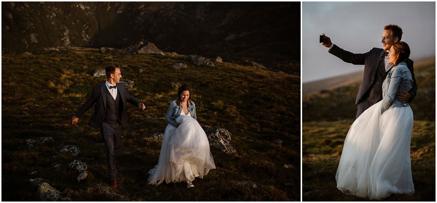 adventure elopement in the mountains