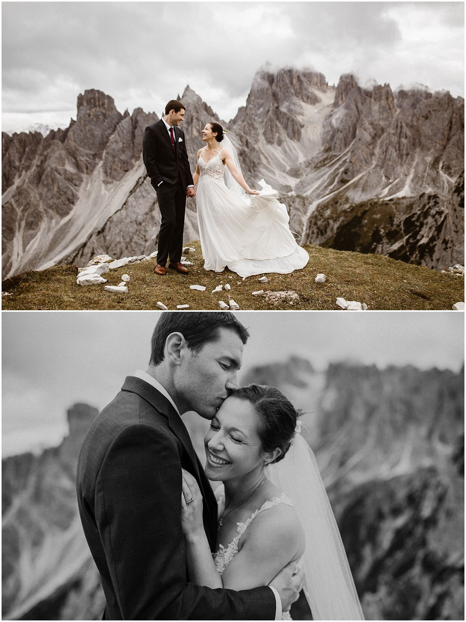 Elopement photographer Dolomites