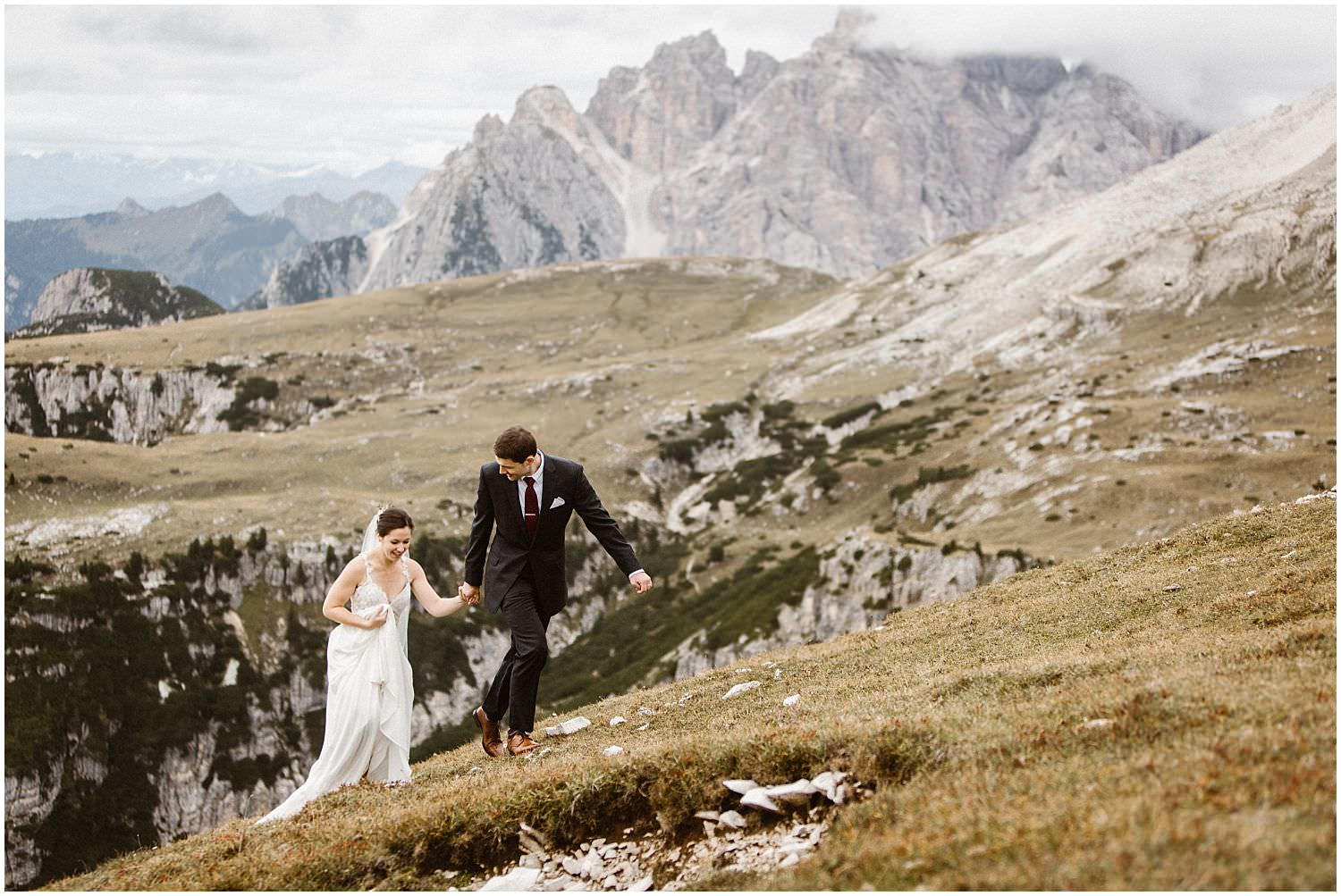 Wedding photos in the Dolomites