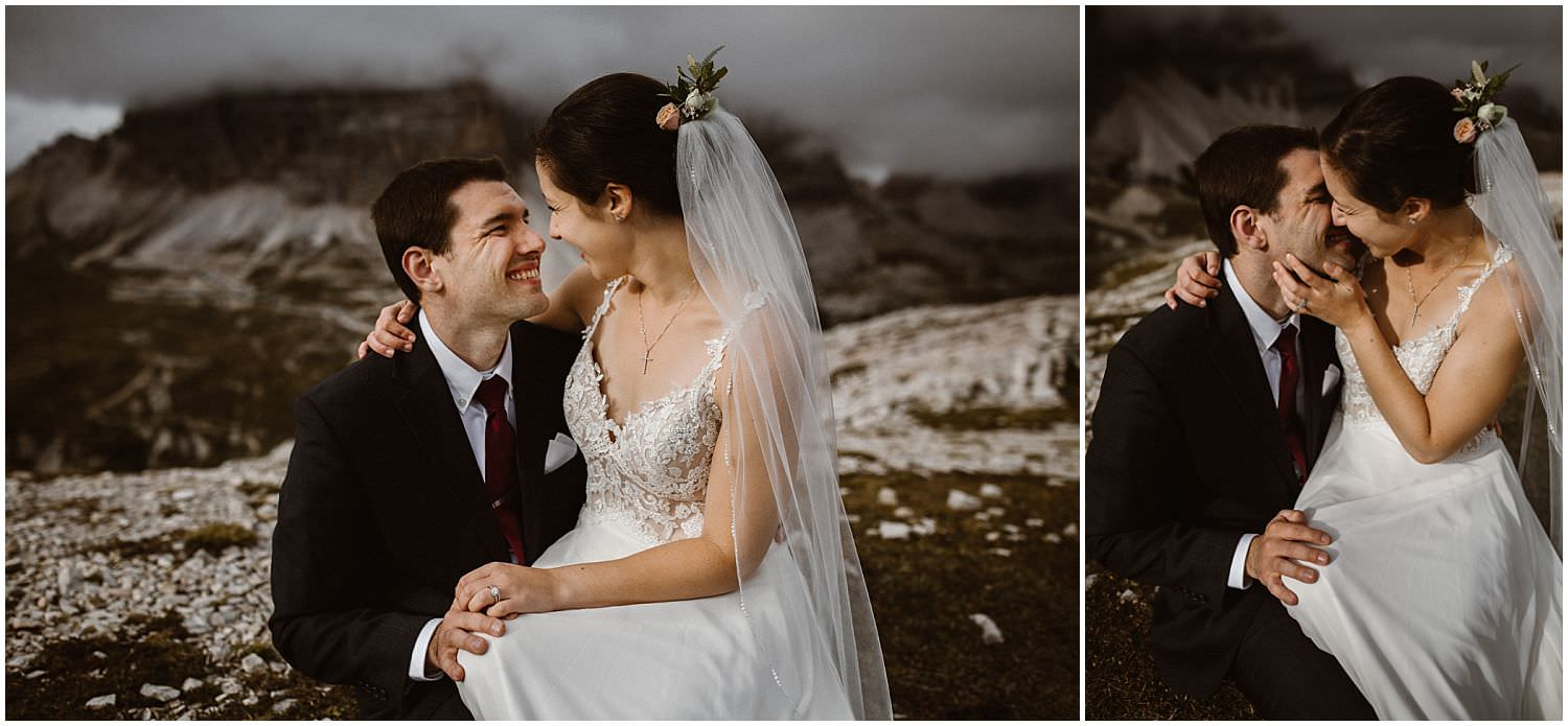 Wedding photos in the mountains