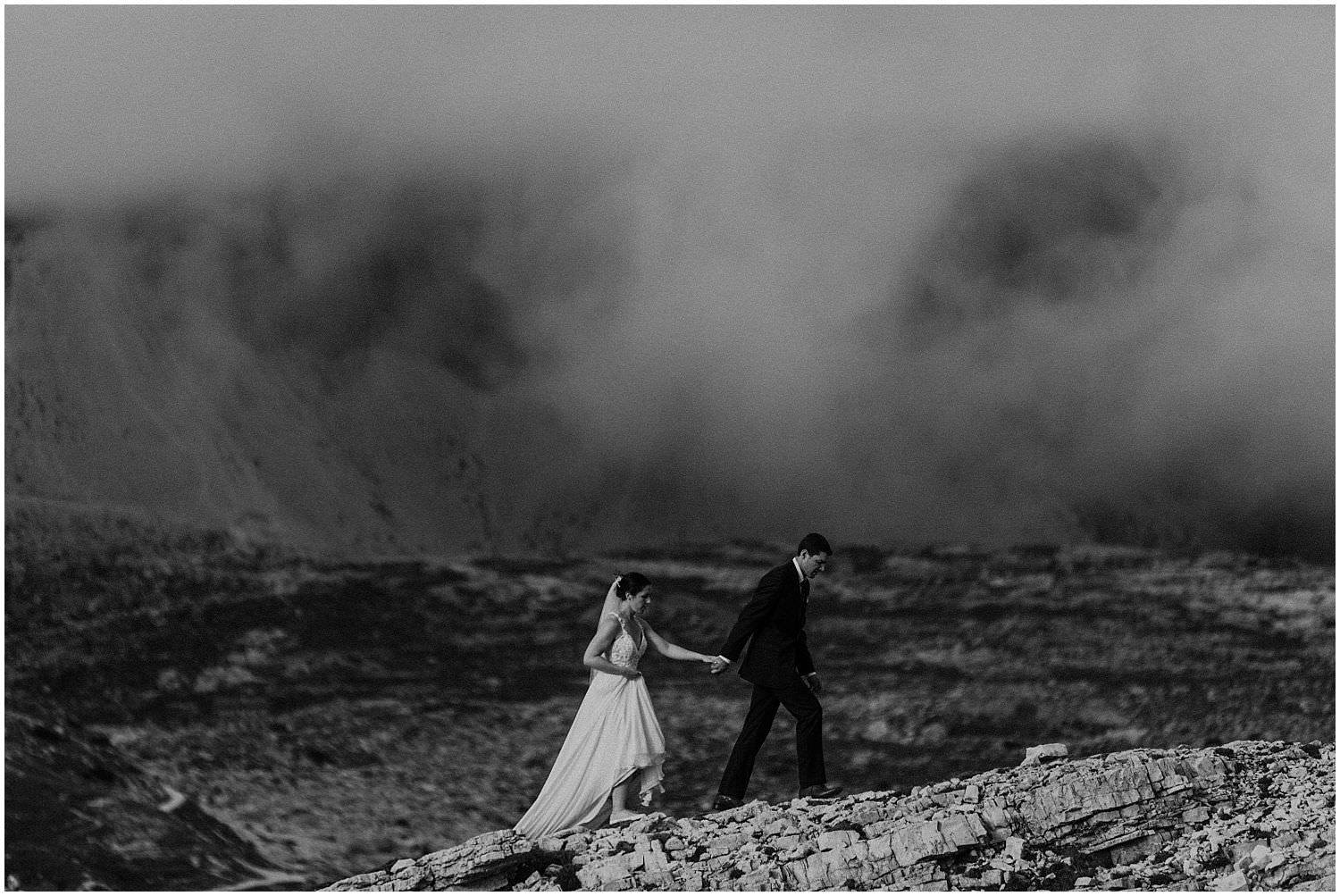 Wedding photo shoot in the mountains