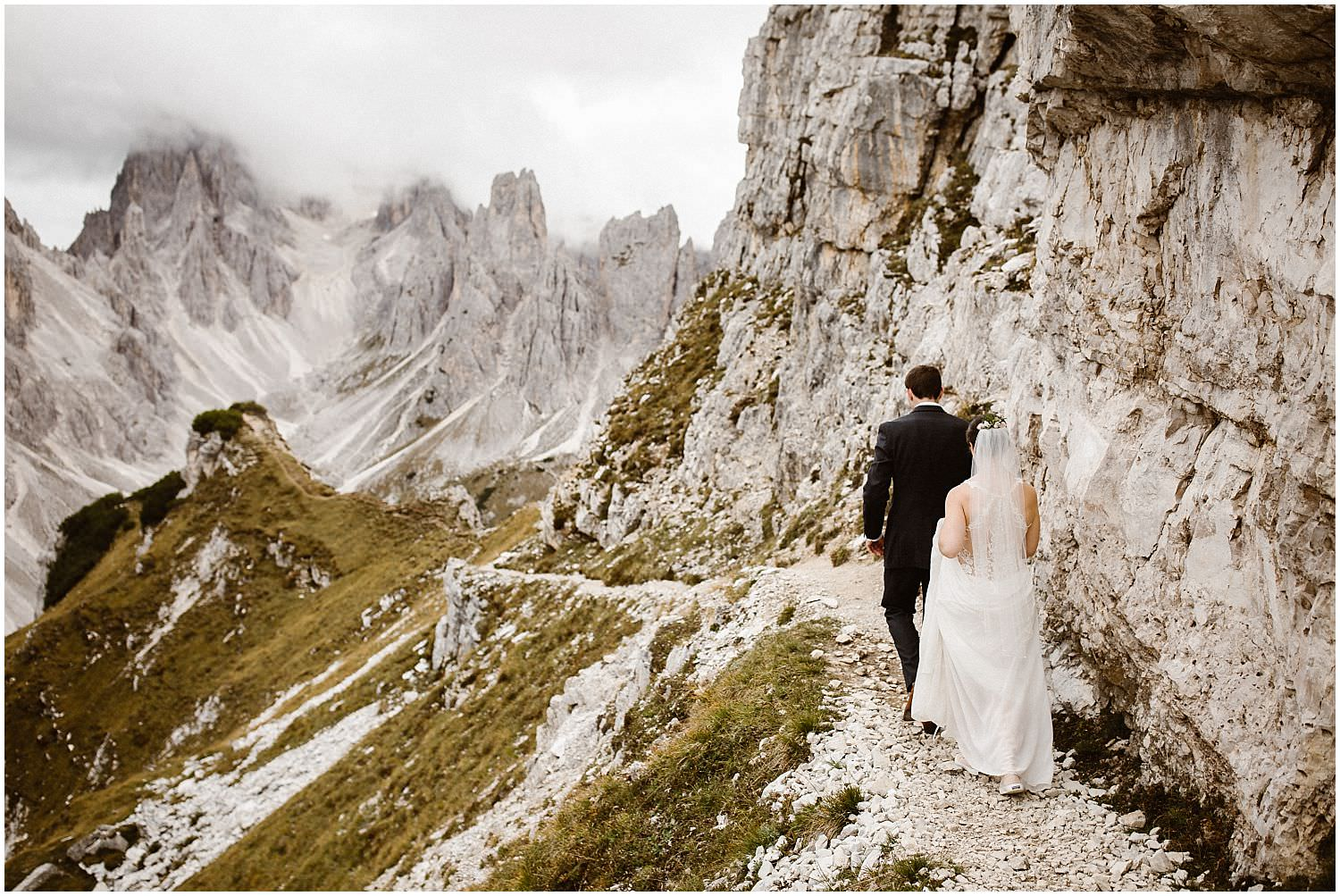 Hiking after wedding Dolomites
