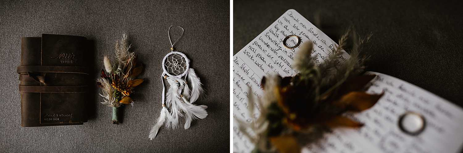 Elopement Rings and Vow Book
