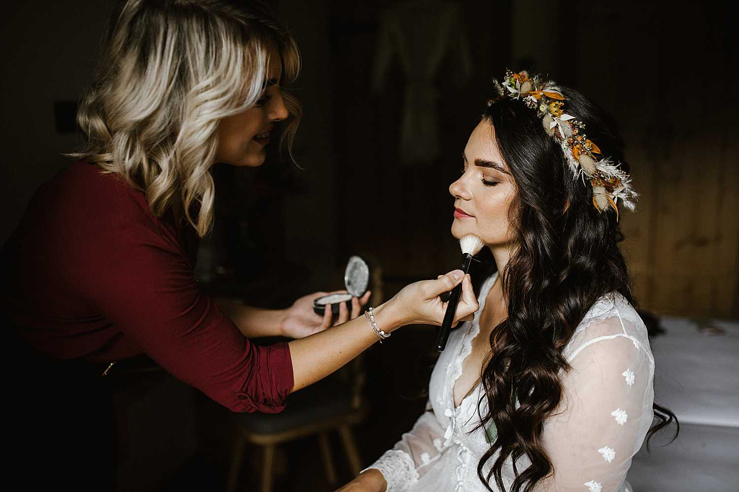 Bridal hair and make up for her elopement in Austria