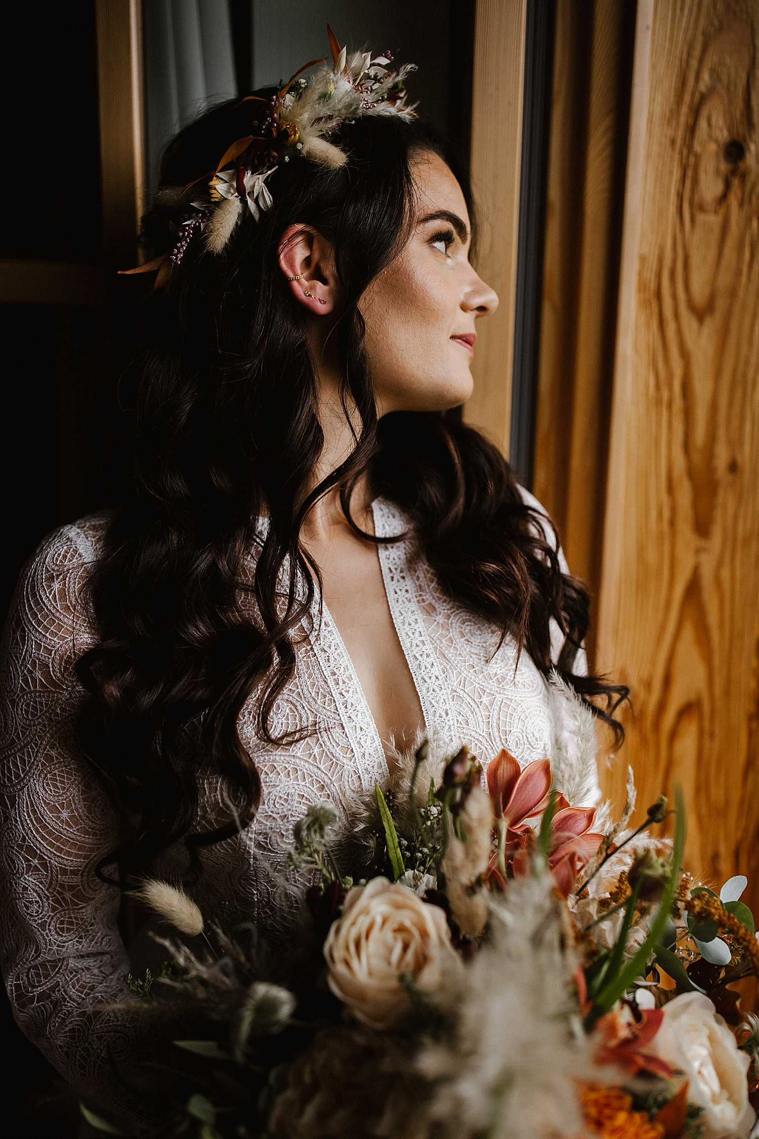 Bridal portraits before her elopement