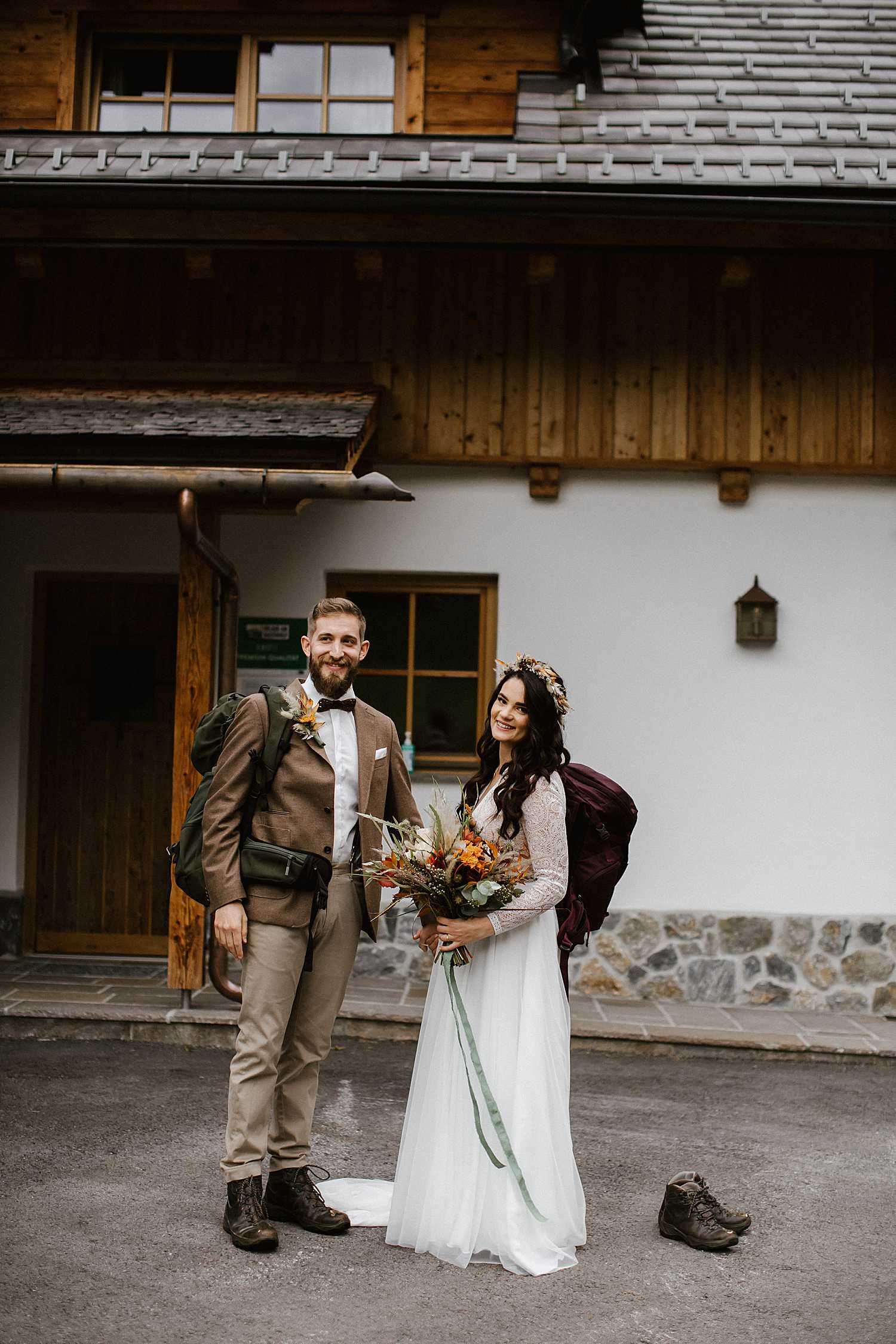 Bride and groom First Look before the elopement