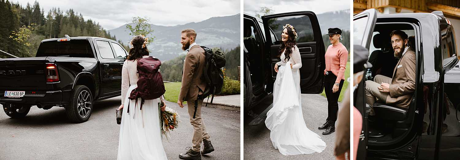 Hiking elopement with Ram