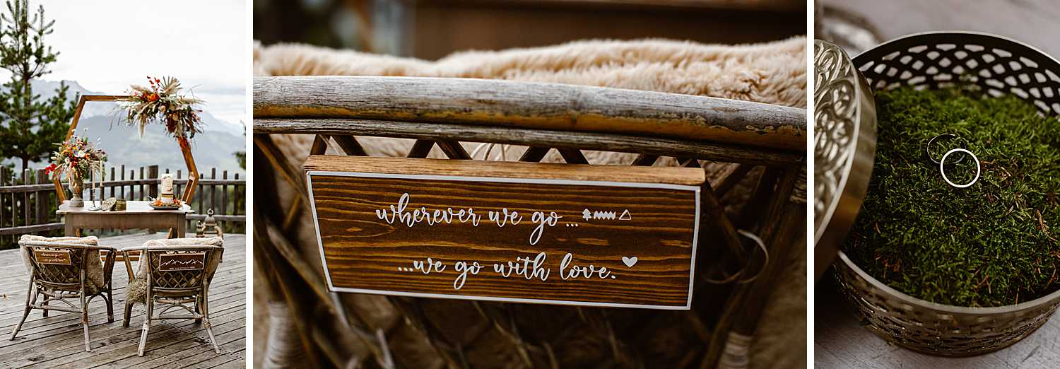 Wooden Wedding Ceremony signs