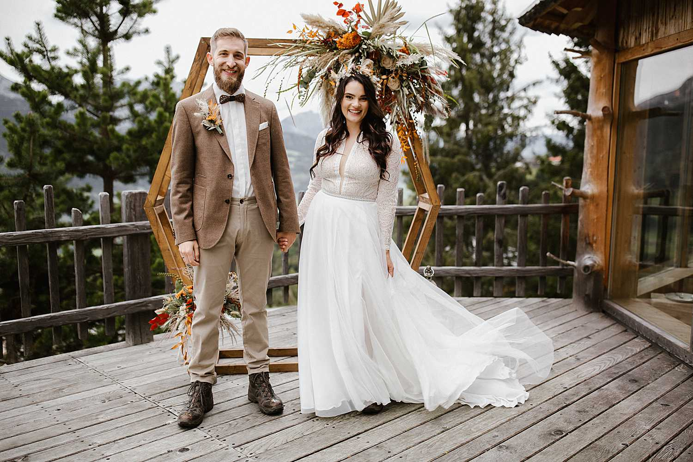 Boho Elopement Wedding Hexagon