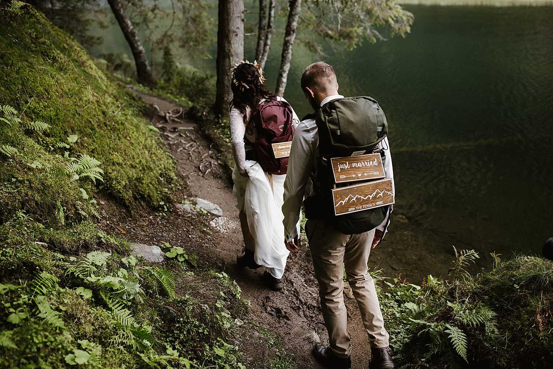 Lake elopement Austria