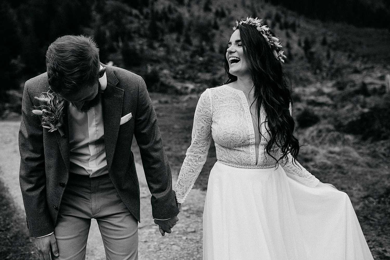 Emotional wedding portraits