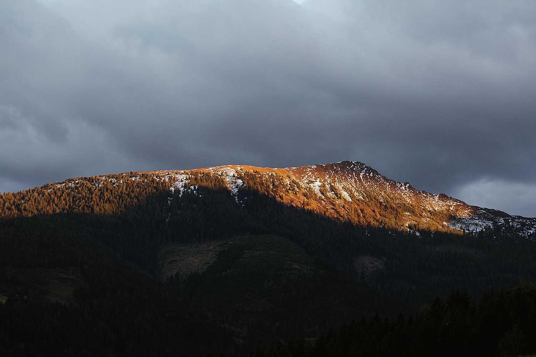 Sunset mountain elopement