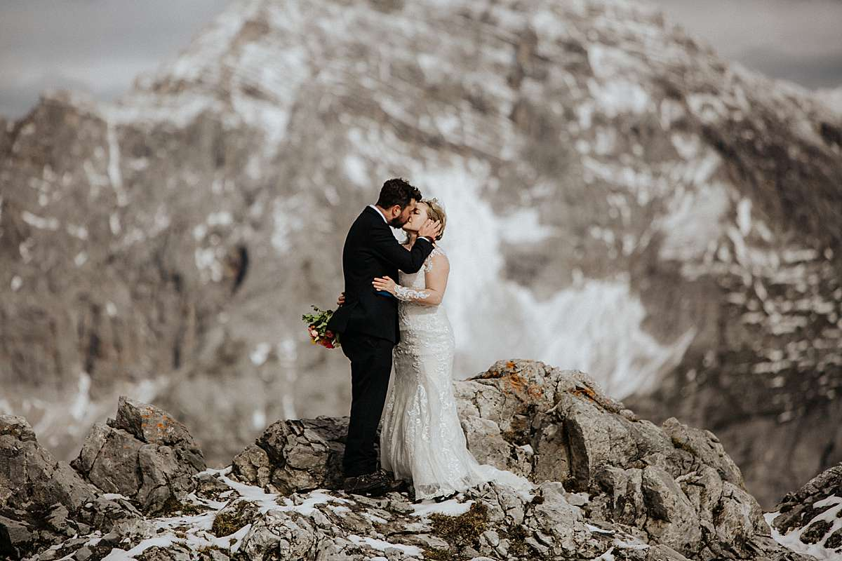 winter elopement in the alps
