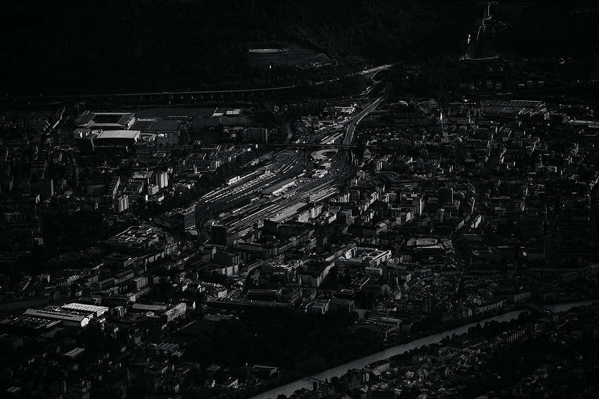 Aerial view of Innsbruck